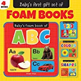 Gift Set of Foam Books: Foam Books for Babies (ABC Alphabet, 123 Numbers, Colors, Shapes)
