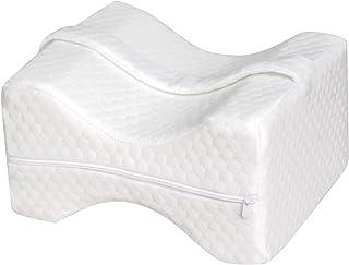 Lawei - Almohada ortopédica de espuma viscoelástica para dormir con contorno de cuña y correa extraíble ajustable