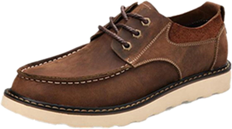 HAPPYSHOP TM Men's Winter Fashion Leather shoes Leisure shoes Black