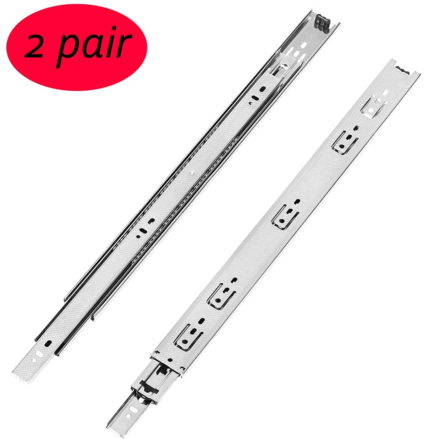 2 Pair of 20 Inch Full Extension Heavy Duty Drawer Slides,Lubrication Steel Ball Bearing