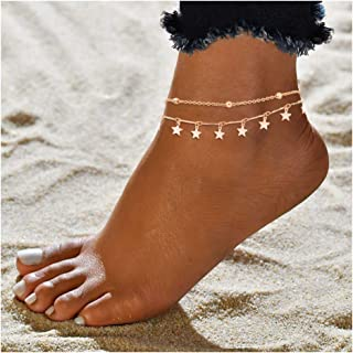 Women's Accessories Women Boot Bracelet Silver Metal Chain Anklet Shoe Turquoise Blue Flower Charm Beautiful And Charming Shoe Charms