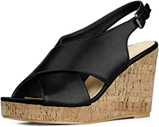 Women's Comfortable Cork Covered Wedges Sandals