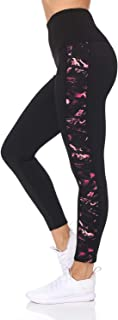 BSP Better Sports Performance Women's High Waist Active Leggings with Lattice Detail