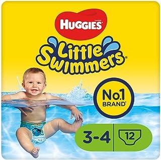 Huggies Little Swimmers Einweg-Schwimmwindeln für Babys und Kinder, Größe 3-4 7-15 kg, 12 Windeln, Unisex