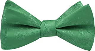 Mens Silk Paisley Self Tie Bow Ties - Jacquard Butterfly Bowties - Wedding - Gifts