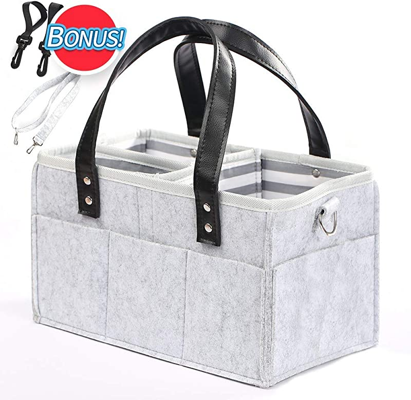 Baby Diaper Caddy Organizer Nursery Storage Bin And Car Organizer For Diapers And Baby Wipes Boy Girl Diaper Storage Bin For Changing Table Baby Shower Basket Newborn Registry Must Have