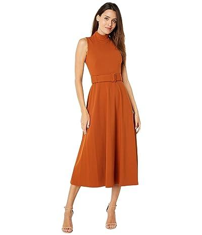 Calvin Klein Sleeveless Dress w/ Belt