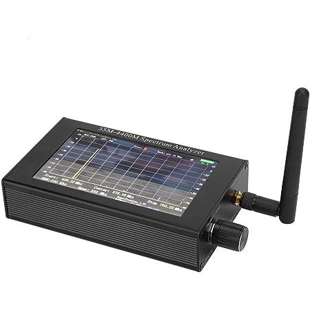 スペクトラムアナライザー35M-4400Mhzハンドヘルドポータブルデジタルスペクトラムアナライザー、ロータリーエンコーダー制御付き4.3インチTFT LCD(480 * 800)画面