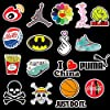 NF Orange Stickers Pack Cool, 100 Pcs Vinyl Waterproof Tide Brand Stickers, for Laptop, Luggage, Car, Skateboard, Motorcycle, Bicycle Decal Graffiti Patches #2