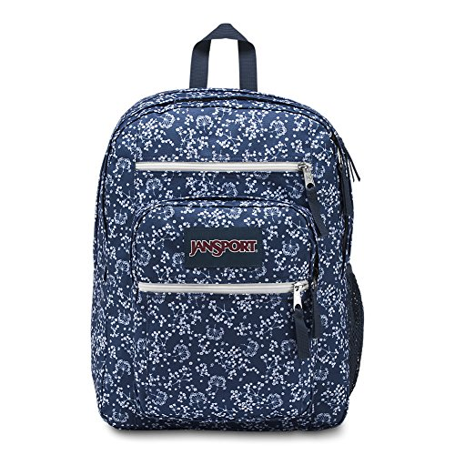 JanSport Big Student Backpack - Navy Field Floral - Oversized