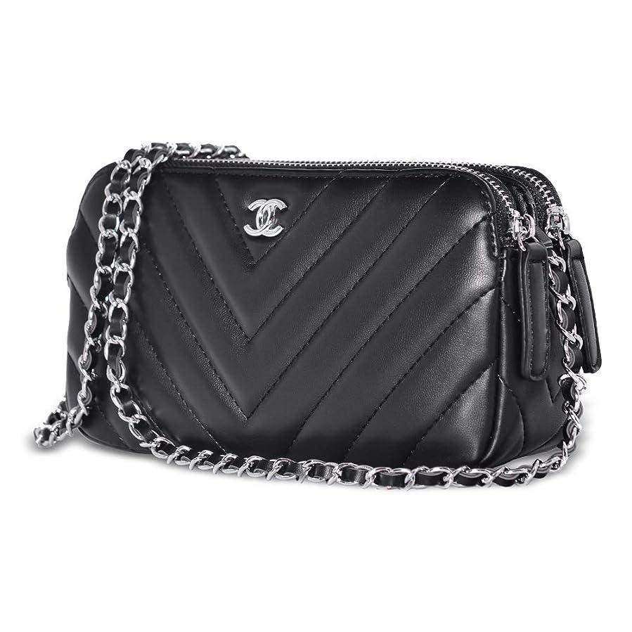 クラッシュ士気通貨ショルダーバッグ レディース 斜めがけ ハンドバッグ チェーンウォレット バニティーケース 2Way Mini Handbag Shoulder Bags Vanity Case 大容量 通勤 旅行