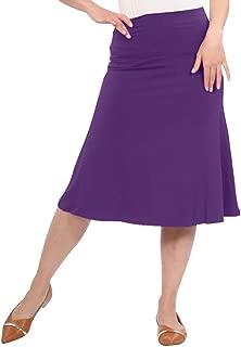 Kosher Casual Women's Modest Adjustable Length A-Line Foldover Waistband Skirt