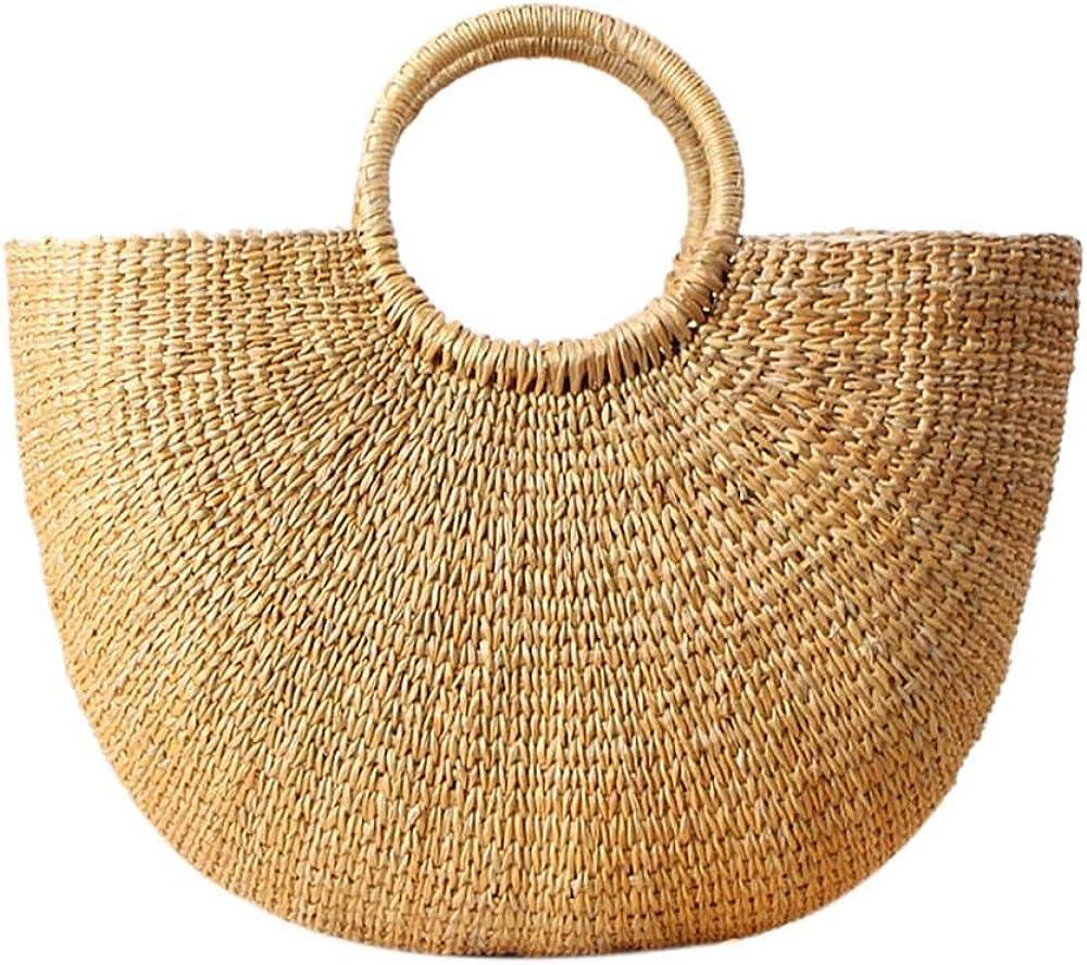 Straw favorite Bag Weave Handbags Handwoven Bags Hand Beach Summer Max 85% OFF Tote