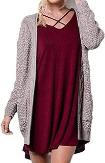 Womens Chunky Kimono Cardigan Batwing Sleeve Open Front Knit Sweaters Outwear