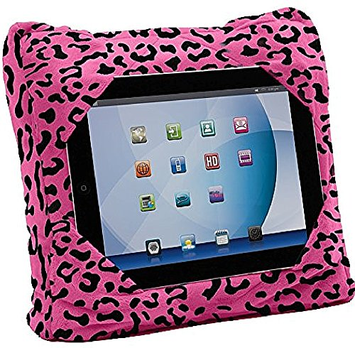 GOGO Pillow - 3-in-1 Travel Pillow, Neck Pillow, Tablet Holder - Pink Leopard (00179)