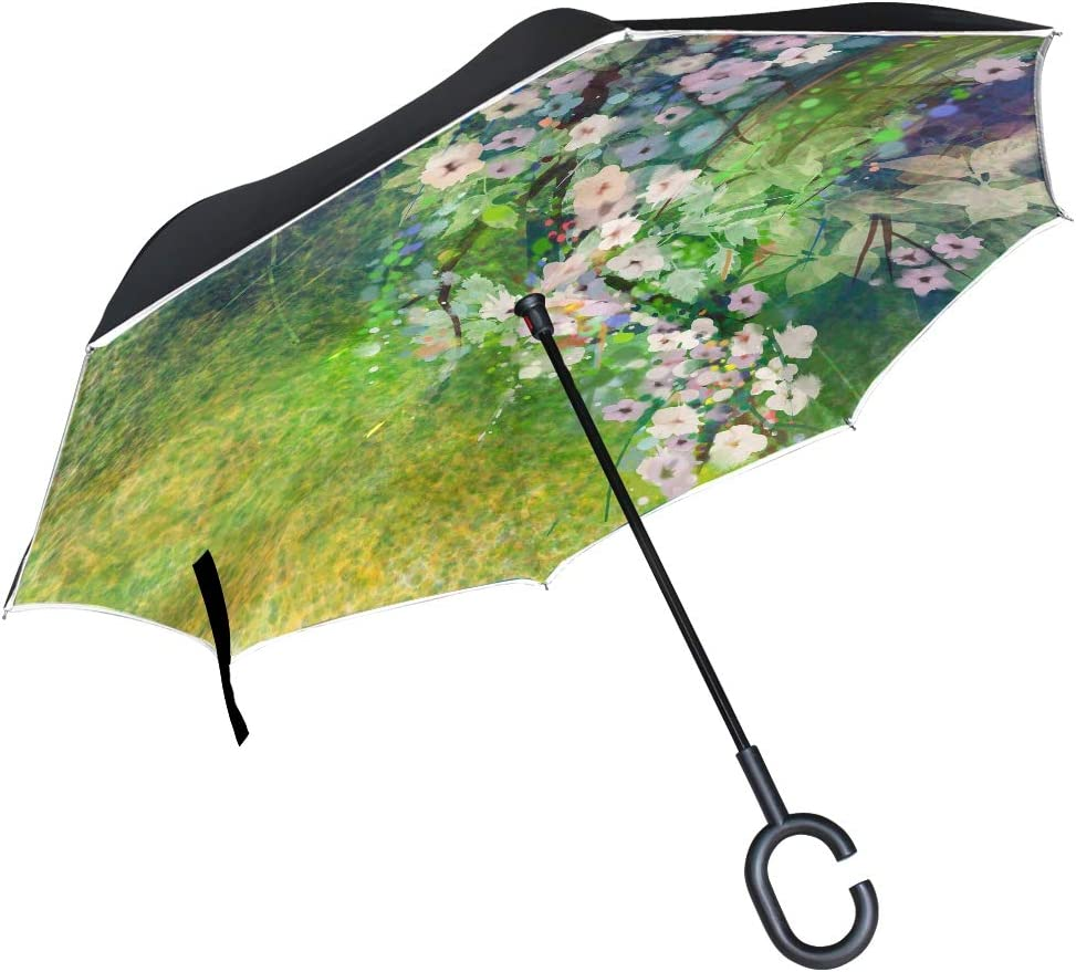 Ranking TOP20 Girls Umbrella For Kids Watercolor And Kansas City Mall Flowers Painting Gre Soft