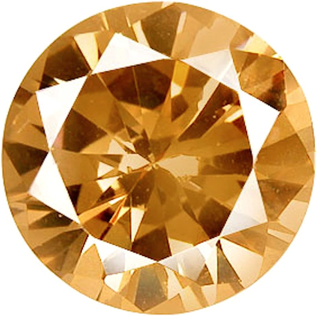 Jaz77 - Max 88% OFF Cubic Zirconia Round Max 77% OFF 15 mm Champagne Loose Sto CZ 1 pc