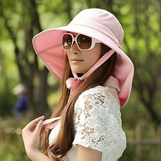 HAIPENG gorra Sombrero para el sol sombrero de playa UPF50 + Mujer Temporada de verano Poliéster Protección UV Protección solar Ensanchar el borde Tapa redonda Ajustable Plegable, 3 colores, 55-58cm Sombrero para el sol