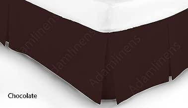 Piccolo doppio letto doppio piccolo Charcoal Adam Home 122/cm x 190/cm colore bianco elegante mantovana pieghettata per letto a 68 passaggi di trama per 2,5 cm di tessuto