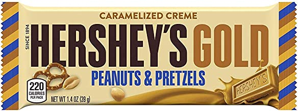 HERSHEY'S Gold Candy Bar, Peanuts & Pretzels Pack of 16 by Candylab