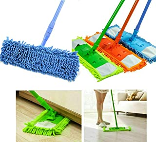 Royal Retail Zone Microfiber Wet and Dry Flat Cleaning Mop with Telescopic Long Handle (Multicolour)