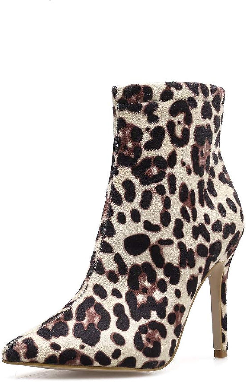 FengJingYuan Woherrar stövlar, Stilettos, Pointed skor, mocka skor och och och Winter, Leopard stövlar  fabriks direkt och snabb leverans