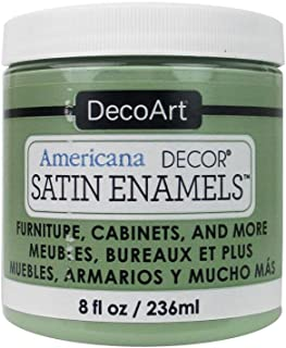 Deco Art Americana Décor Satin Enamels - Botella de Pintura acrílica (7 x 7 x 8 cm), Color Verde Musgo