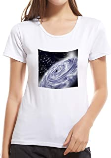 Summerout Womens T Shirts Summer Sunny Girls Casual Cosmic Stars Pinting Cotton Tops