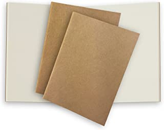 Plain Pocket Traveler's Notebook Journal Paper Refills 3 Pack Cream Unlined Inserts for Small Passport Refillable Leather Travel Journals - 5 x 3.65. Soft Cover Thick Spare Grid Paper TN Travel Diary