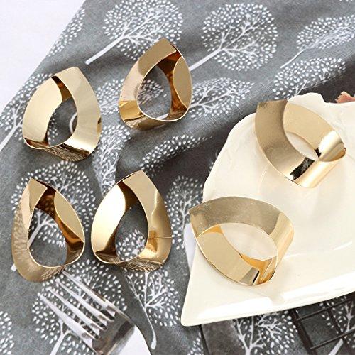 QIANGU Pendientes, 1 par de Pendientes geométricos de Metal Dorado con Forma de lágrima para Mujer, joyería llamativa