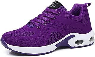 Dames Loopschoenen Ademend Mesh Luchtkussen Trainers Mode Platform Wiggen Ronde neus Veterschoen Jogging Fitness Sneakers