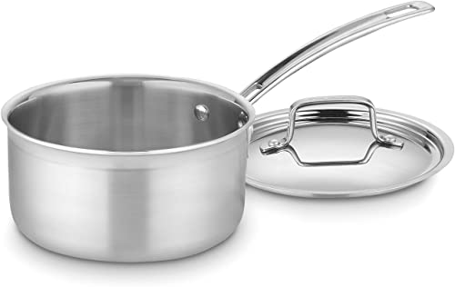 2021 Cuisinart outlet online sale MultiClad outlet sale Pro Stainless Steel 2-Quart Saucepan with Cover online