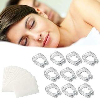 Kapmore 10PCS Anti Snoring Nose Clip Creative Silicone Snoring Device with 60PCS Sleep Mouth Strip