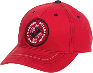 Mens Red Dale Brisby Ridin Bulls Cap OS