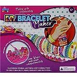 Misco Kid's DIY Rainbow Bracelet Maker - Loom Rubber Bands, S Hooks, Weaving Board, 600 Elastics Included, Ages 6+