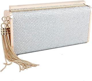 YXFYXF Bolsa de Embrague de Diamantes de imitación para Mujer Bolsa de Vestir de Banquete de Moda Moda de la Noche Embragu...