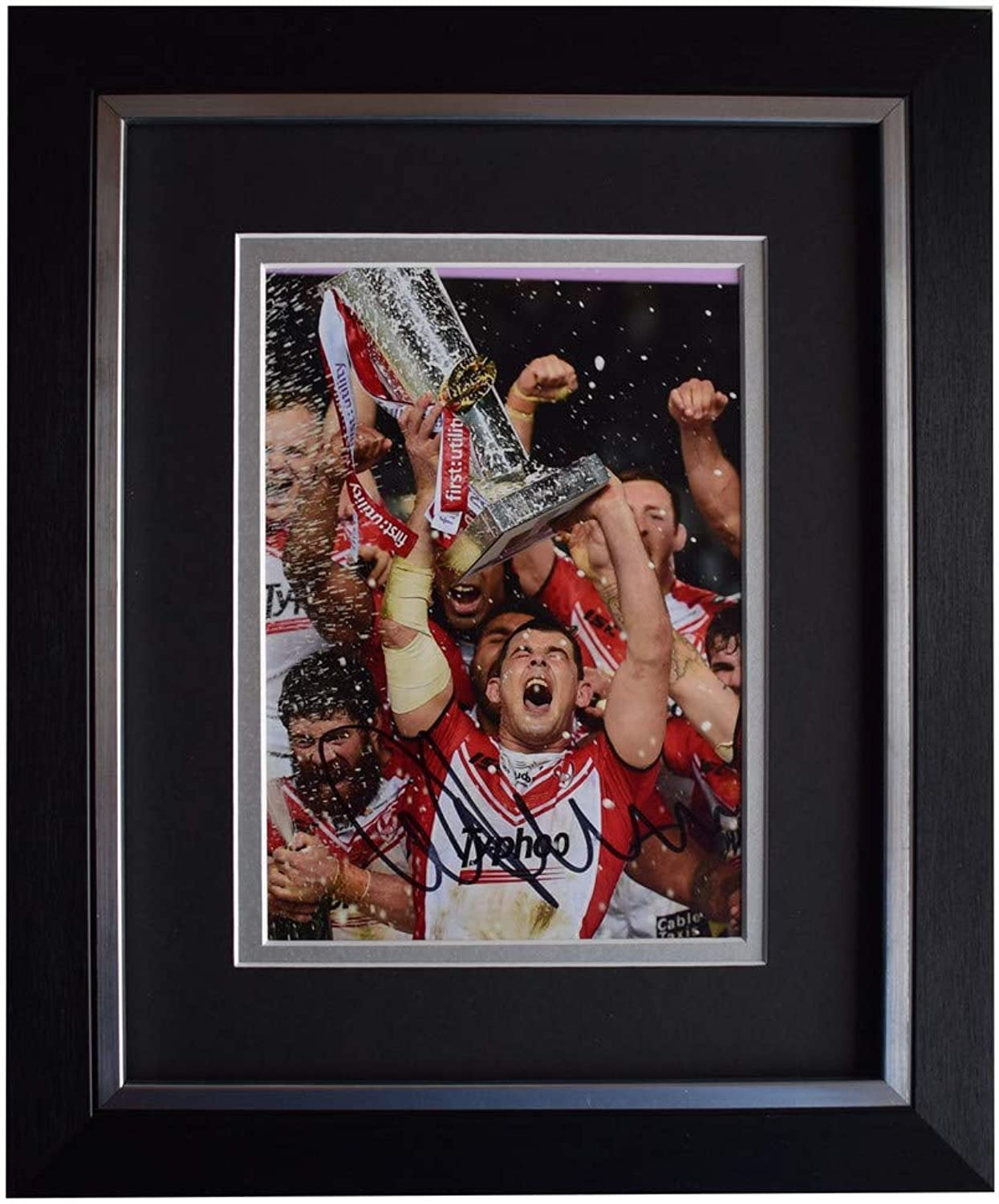 Sportagraphs Paul Wellens Signed 10x8 Framed Photo Autograph Display St Helens Rugby COA