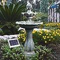 Water Feature Solar Water Cascade Water Feature Fountain For Garden Outdoor Bird Bath Ideal For Balcony Terrace & Garden Beautiful Art For Your Environment Ornamental Fountain Outdoors Fountain