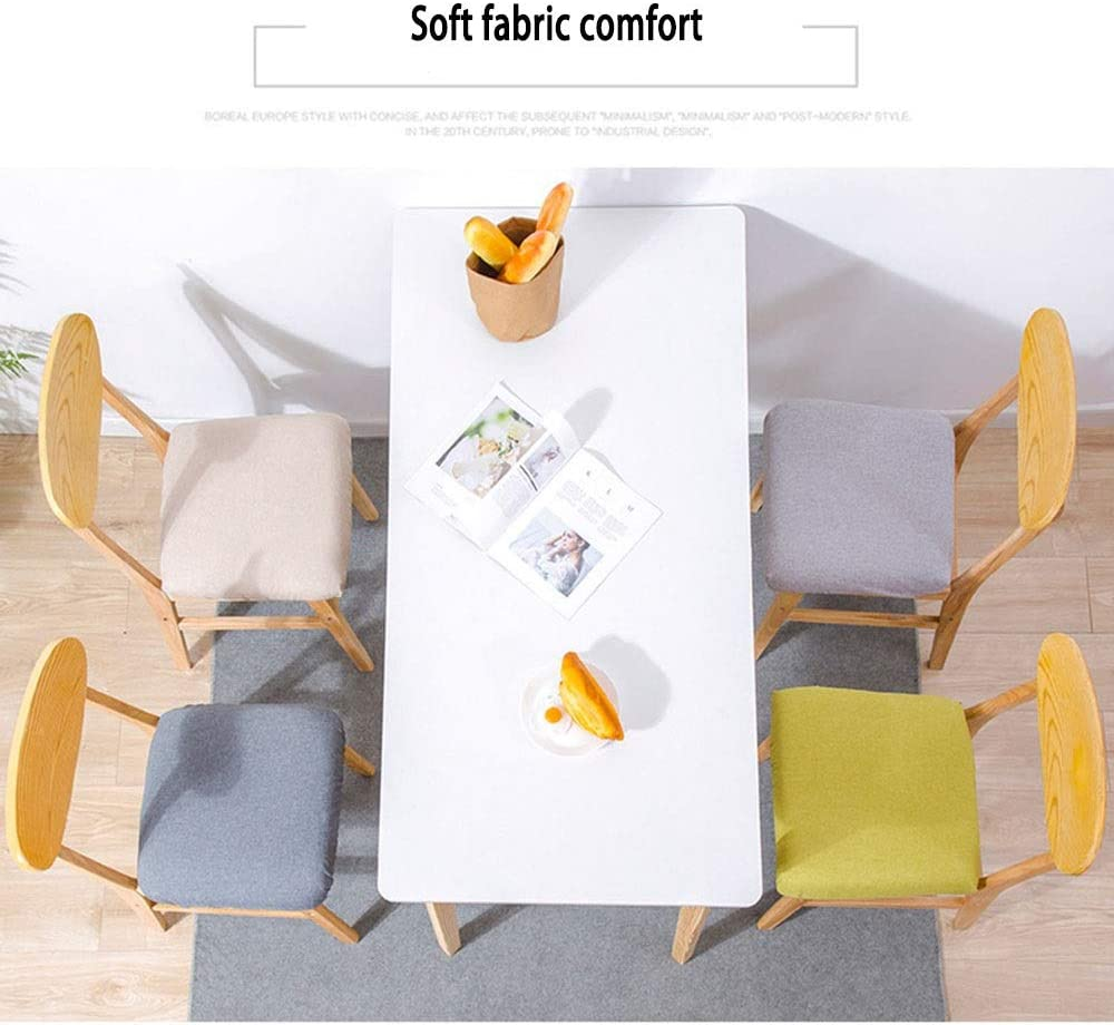 LJFYXZ Chaises Salle Manger Papillon au Dos Chaise de Loisirs Simple Tapis en Tissu aéré Chaise d'appoint Pieds en Bois Massif Porteur 130kg 45x50x75cm (Color : Gray) Green
