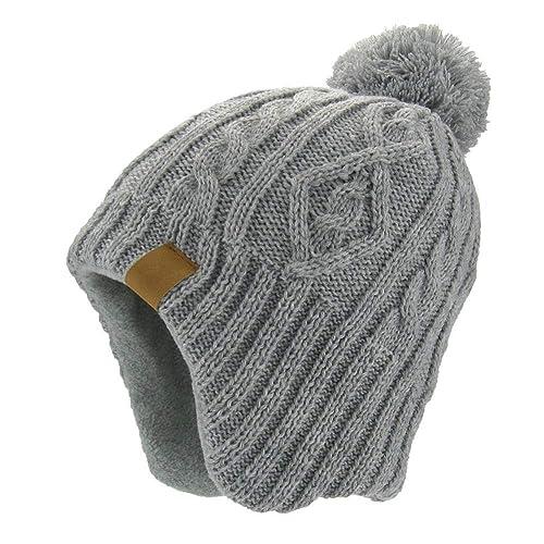 b3fec868fa675e Moon Kitty Baby Boys Girls Knit Hats Winter Fleece Skiing Winter Caps with  Warm Ear Flap