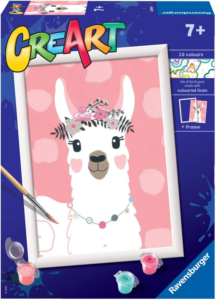 A surprise price is realized Ravensburger CreArt Philadelphia Mall No Drama Llama Paint for by Numbers Children