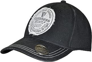 Guinness Distressed Gaelic Irish Label Cap - Men's Bottle Opener Baseball Hat Black
