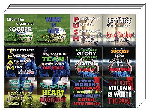 Creanoso Soccer Succes Motieven Stickers - 20 Vel - Unieke Sticker Kaarten voor succesvol team en Self - Groot Sticky Notes naar Mannen, Vrouwen, Teens - Geweldig om Stick op elk oppervlak - Wall Decor