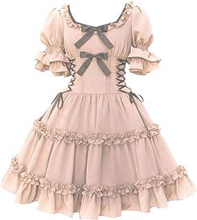 Momo Plus Size Womens Multi Layers Classic Sweet Lolita Dress Chiffon Bowknot Dress