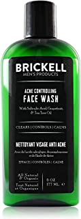 Brickell Men's Acne Controlling Face Wash for Men, Natural and Organic Acne Face Wash to Cleanse Skin and Eliminate Acne, ...