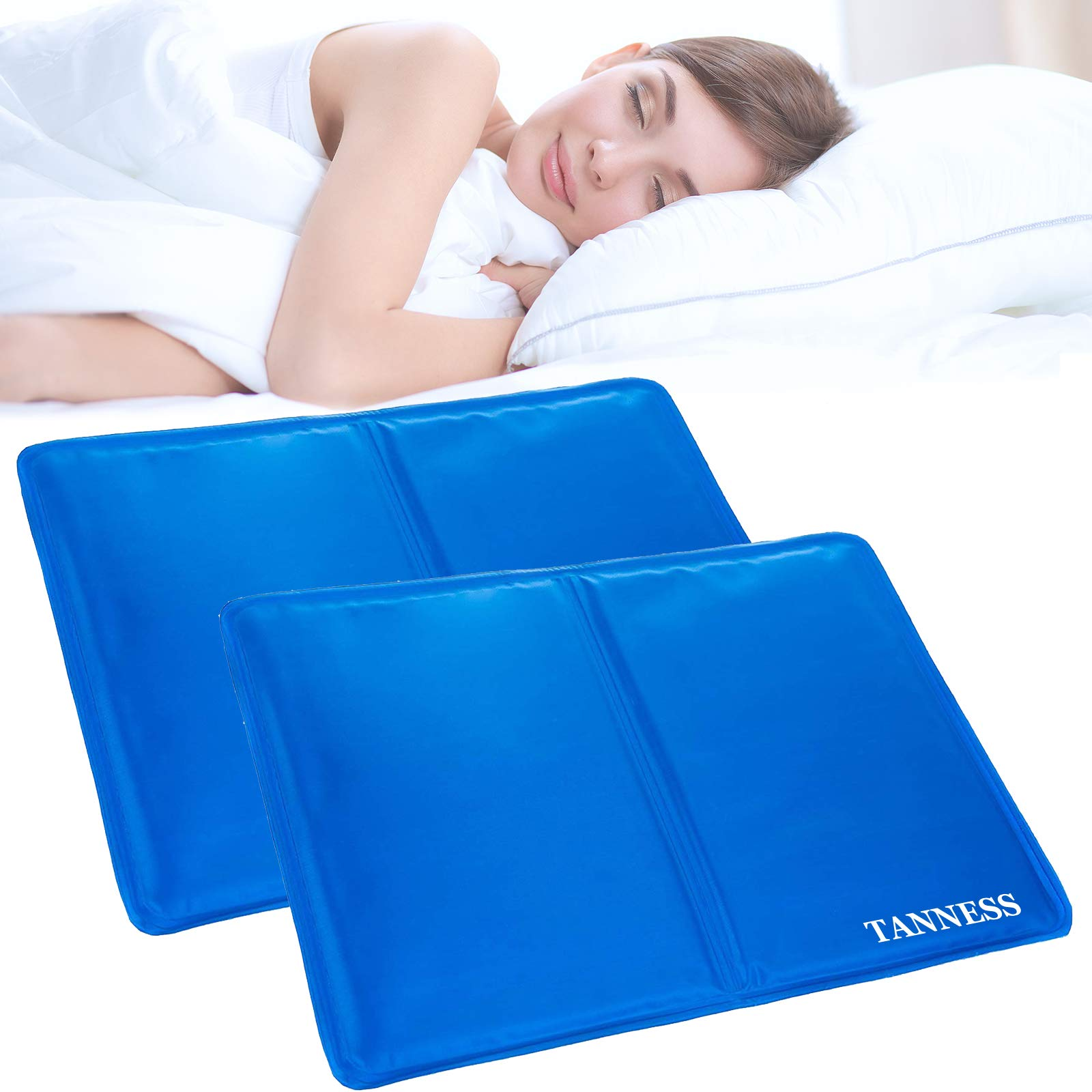 Tanness 2 Pack Magic Multi-Function Cool Jelly Pad Cushion Pillow Mat Absorbs and Dissipates Heat - Helps Improve Quality of Sleep & Optimal Sleeping Temperature