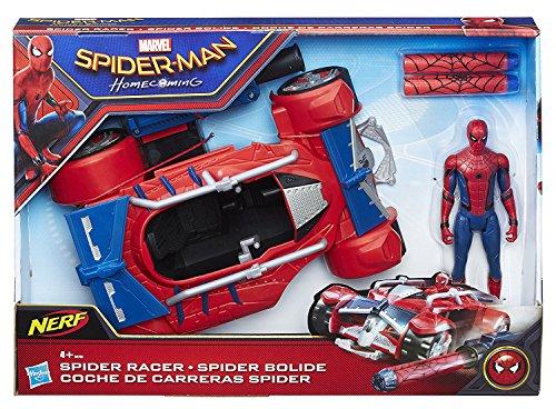 Hasbro B9703 - Marvel - Homecoming Spider-Man mit Spider Racer