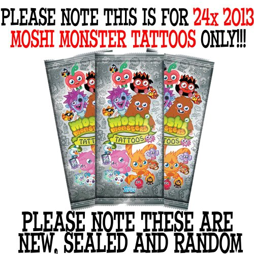 Moshi Monsters 2013 Box of Tattoos (24 Packets)