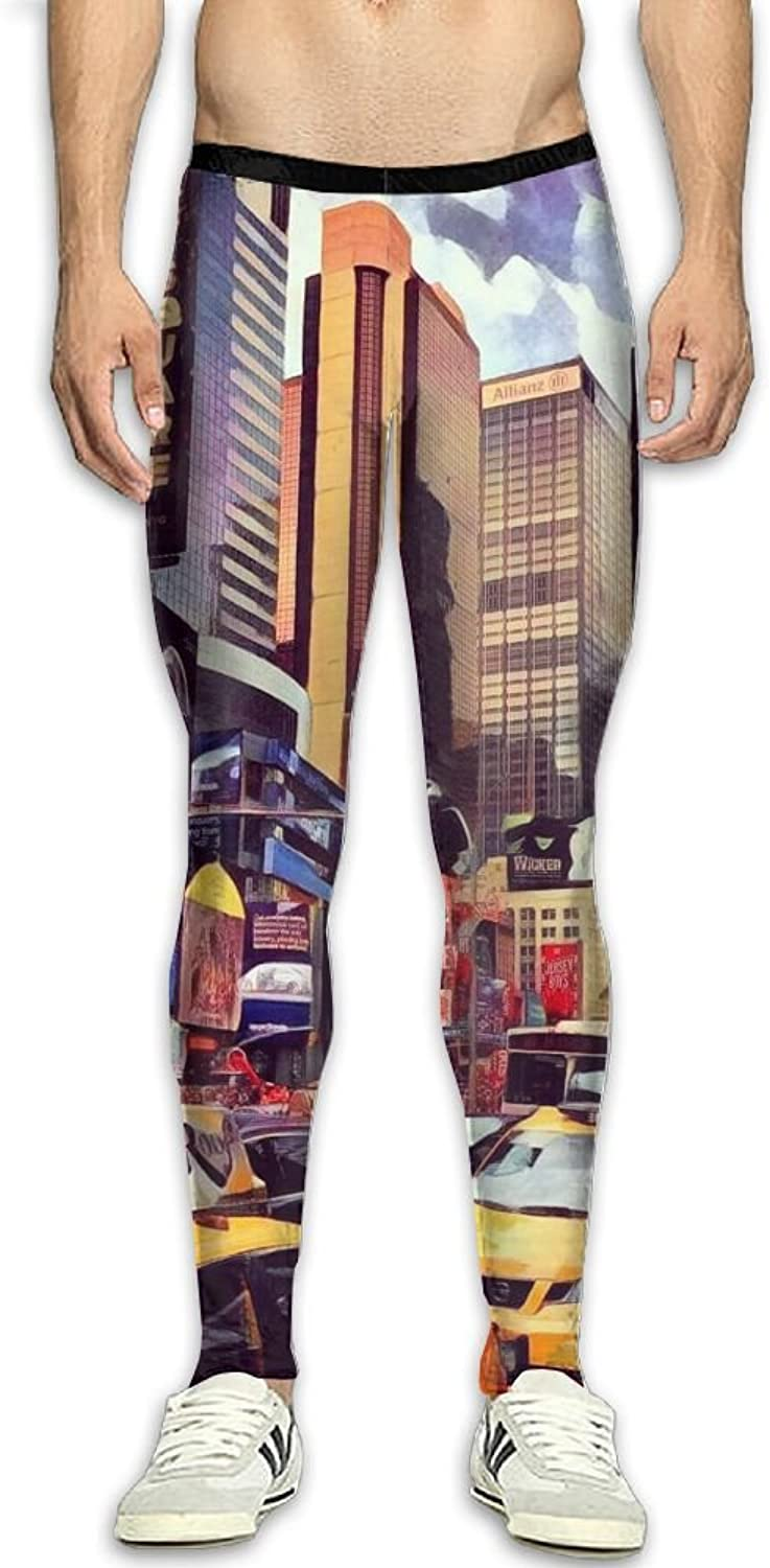 City City City Car Painting Compression Pants Long Tights