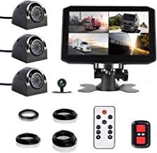 $199 » VSYSTO 4CH Dash Cam Record Camera Recording Backup DVR Front & Sides & Rear VGA for Semi Trailer Truck Van Tractor with In...